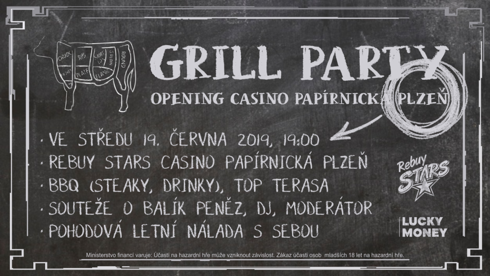 Grill Party - Rebuy Stars - Casino Papirnicka - Plzeň - banner