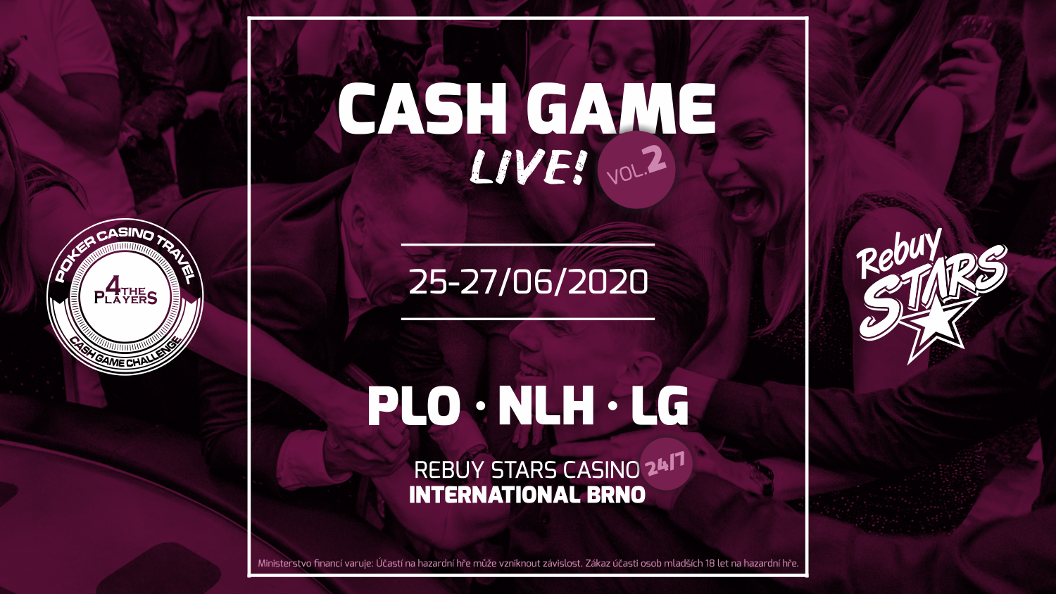 Rebuy Stars - Cash Game Live - vol 2 - International Brno - banner