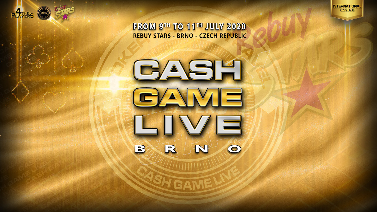 Rebuy Stars - Casino - CASH GAME LIVE - vol 3 - International Brno - banner